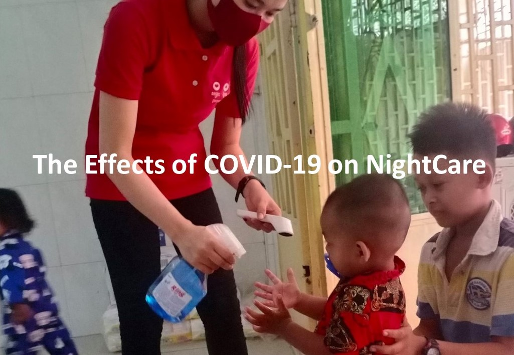 The Effects of COVID-19 on NightCare - NightCare nanny taking COVID-19 precautions with NightCare babies.