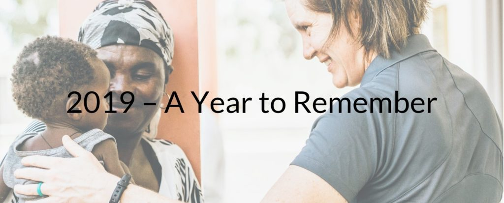 2019 - A Year to Remember - Founder Sarah and baby from our malnutrition clinic. 2019 Saving Moses Highlights